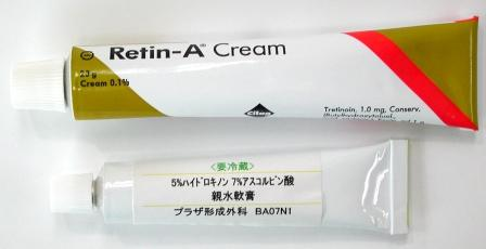 Retin-A and Bleaching cream